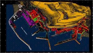 Orthophotos-plans en couleur avec habillage cartographique